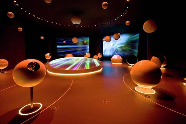 Wall Art - Photograph - Universe Of Particles Exhibition by Cern/science Photo Library