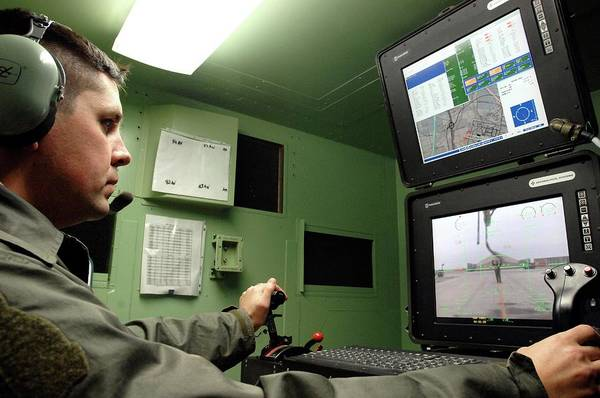 Iraqi Photograph - Unmanned Aerial Vehicle Operator by Us Air Force/science Photo Library