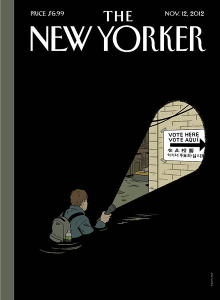 Politics Photograph - New Yorker November 12th, 2012 by Adrian Tomine