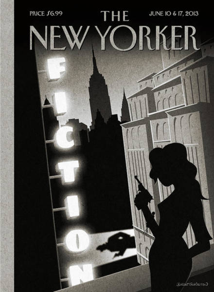 Book Painting - New Yorker June 10th, 2013 by Birgit Schoessow