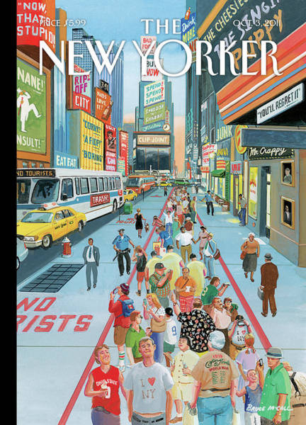 New Yorker October 3rd, 2011 Art Print by Bruce McCall