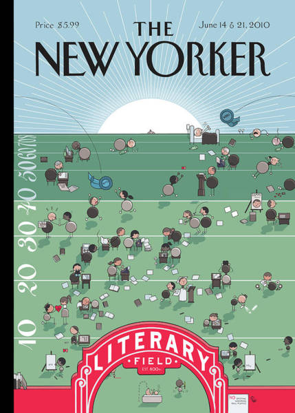 Writing Painting - New Yorker June 14th, 2010 by Chris Ware