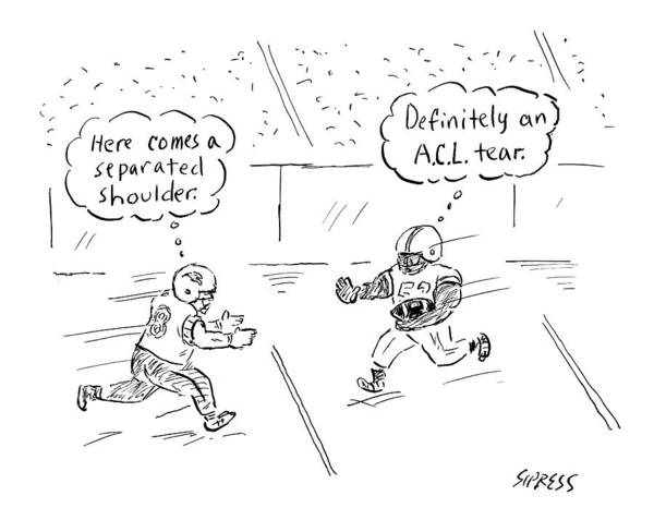 Injury Wall Art - Drawing - New Yorker December 5th, 2016 by David Sipress