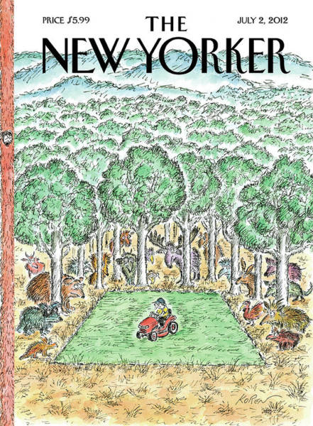 Grass Painting - New Yorker July 2nd, 2012 by Edward Koren