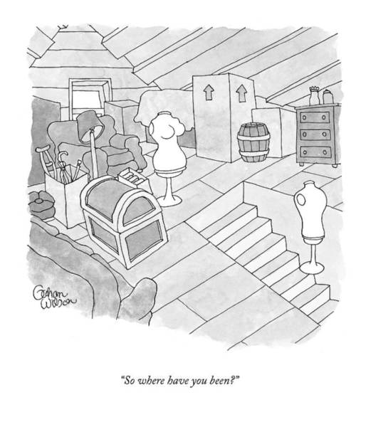 Attic Wall Art - Drawing - New Yorker September 14th, 2009 by Gahan Wilson