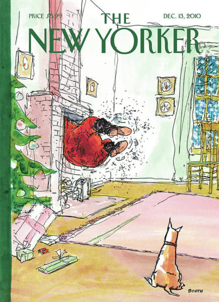 Painting - New Yorker December 13th, 2010 by George Booth
