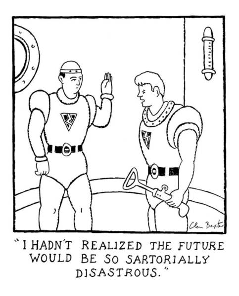 Future Drawing - I Hadn't Realized The Future by Glen Baxter