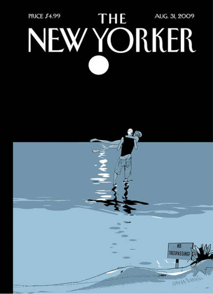 Moon Painting - New Yorker August 31st, 2009 by Istvan Banyai