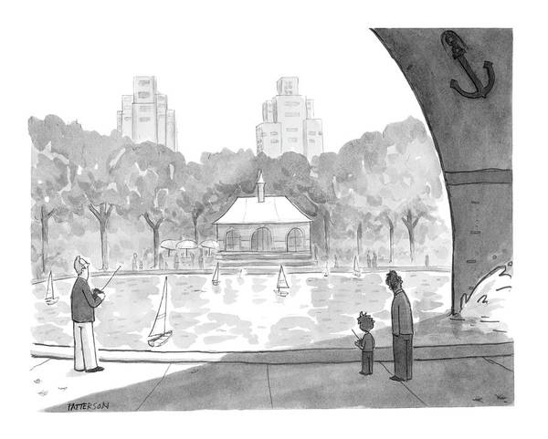 Sailing Drawing - New Yorker April 25th, 2005 by Jason Patterson