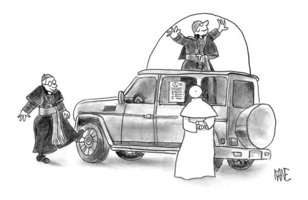Auto Drawing - New Yorker May 23rd, 2005 by John Kane