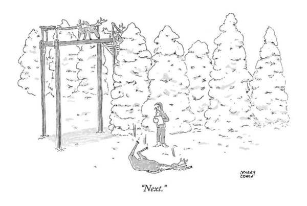 Santa Drawing - Next by Jonny Cohen