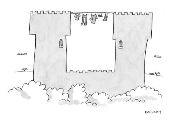 Castle Drawing - Captionless by Liza Donnelly