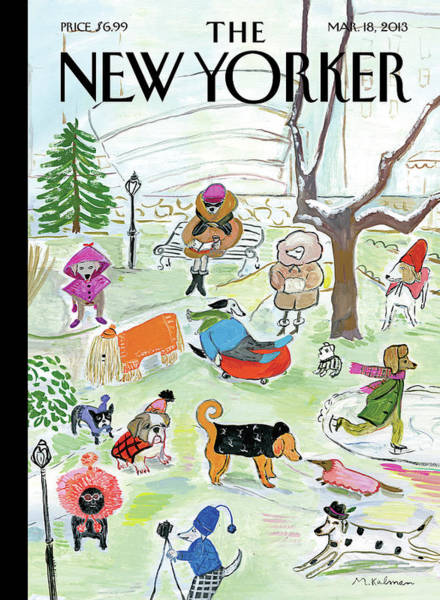 March 2013 Painting - New Yorker March 18th, 2013 by Maira Kalman