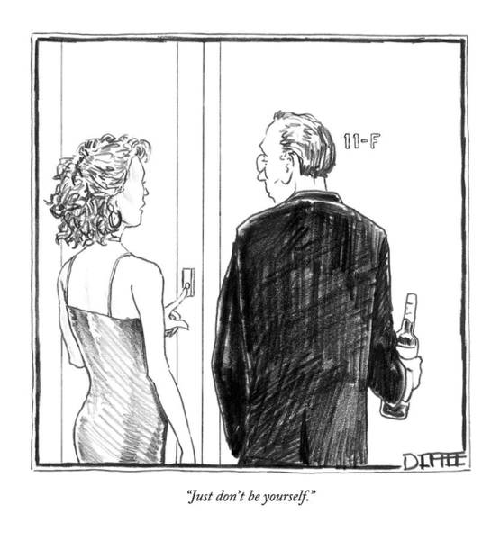 Relationship Drawing - Just Don't Be Yourself by Matthew Diffee