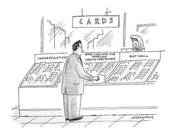 Care Drawing - New Yorker September 24th, 2007 by Mick Stevens