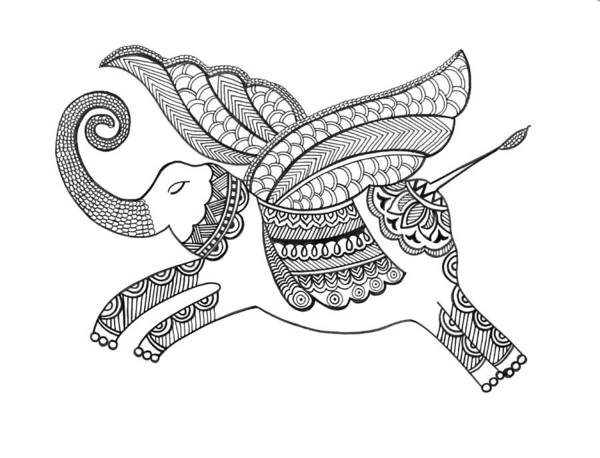 Intricate Drawing - Untitled by MGL Meiklejohn Graphics Licensing