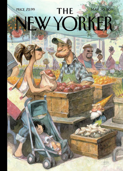 Farmer Painting - New Yorker May 30th, 2011 by Peter de Seve