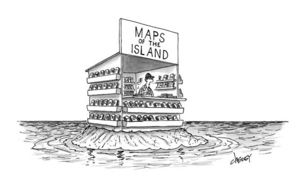 Tourism Drawing - New Yorker November 7th, 2016 by Tom Cheney