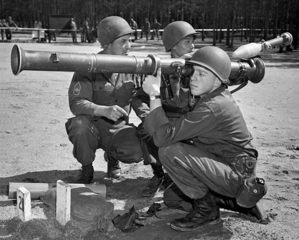 Ww Ii Photograph - Bazooka Training by Underwood Archives