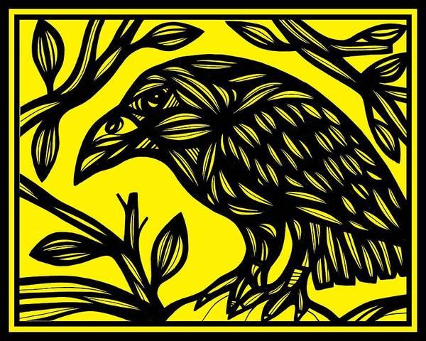 Magpies Drawing - Unwilling Secret by Eddie Alfaro