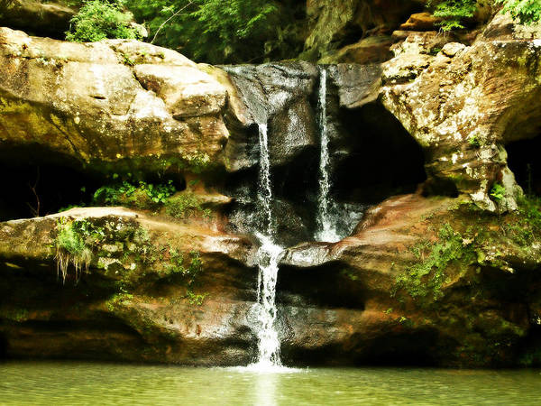 Hocking Hills Photograph - Upper Falls by Dan Sproul