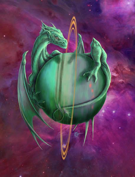 Wall Art - Painting - Uranus Dragon by MGL Meiklejohn Graphics Licensing