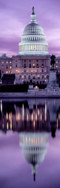 Wall Art - Photograph - Us Capitol Building At Dawn, Washington by Panoramic Images
