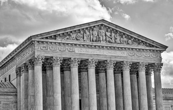 Photograph - Us Supreme Court by Susan Candelario
