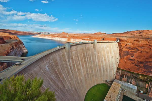 Wall Art - Photograph - Usa, Arizona, Page, Glen Canyon Dam by Bernard Friel