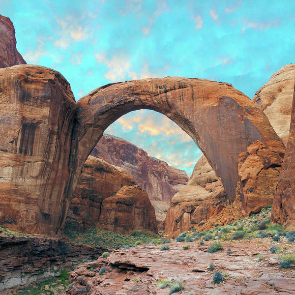 Wall Art - Photograph - Usa, Arizona Rainbow Bridge Arch by Jaynes Gallery