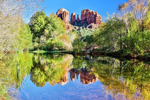 Wall Art - Photograph - Usa, Arizona, Sedona, Red Rock Crossing by Hollice Looney