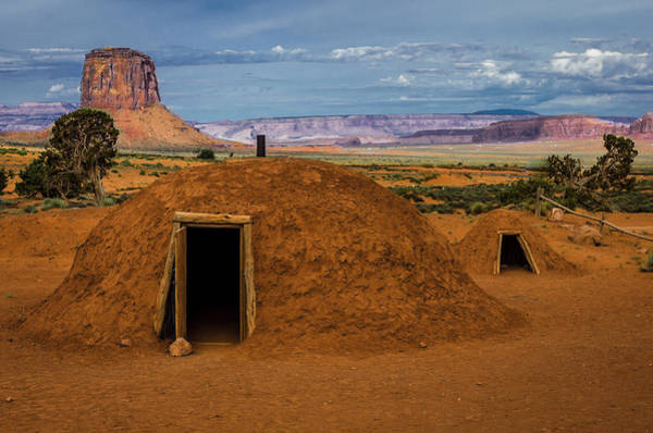 Hogan Photograph - Usa, Arizona, Utah, Navajo Reservation by Jerry Ginsberg