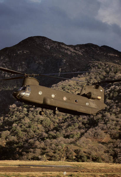 Rotor Photograph - Usa, California, Chinook Search by Gerry Reynolds