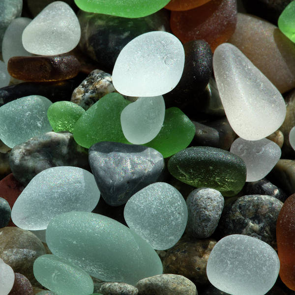 Wall Art - Photograph - Usa, California Natural Sea Glass by Jaynes Gallery