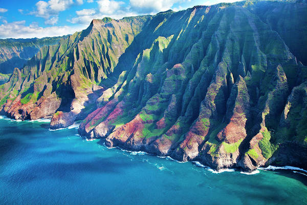 Steep Photograph - Usa, Hawaii, Kauai, Aerial by Terry Eggers