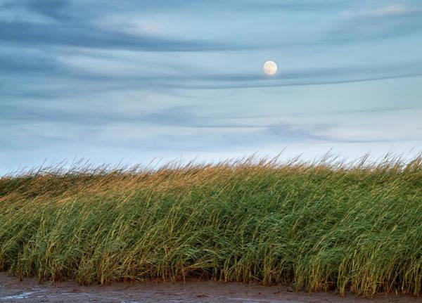 Encounter Bay Photograph - Usa, Massachusetts, Cape Cod, Full Moon by Ann Collins