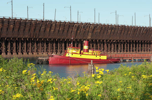 Lake Superior Wall Art - Photograph - Usa, Minnesota, Two Harbors, Edna G by Peter Hawkins