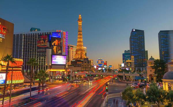 Las Vegas Photograph - Usa, Nevada, Las Vegas, The Strip by Alan Copson