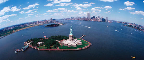 Rise Above Wall Art - Photograph - Usa, New York, Statue Of Liberty by Panoramic Images