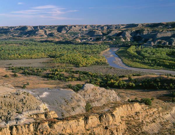 Landforms Photograph - Usa, North Dakota, Theodore Roosevelt by John Barger