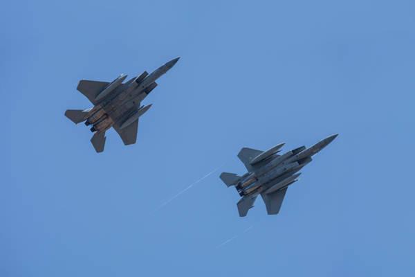 Wall Art - Photograph - Usa, Oregon, Hillsboro, F-15c Eagles by Rick A Brown