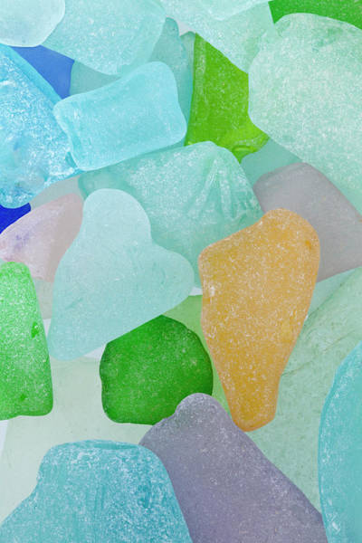 Frosted Glass Photograph - Usa, Washington Close-up Of Colorful by Jaynes Gallery