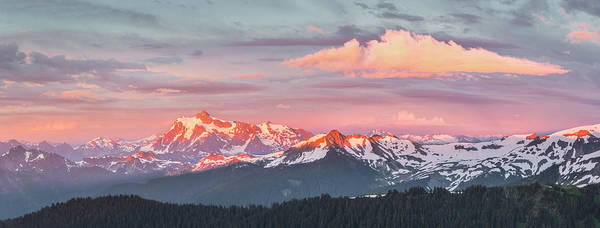 Wall Art - Photograph - Usa Washington State Panorama Of Mt by Gary Luhm