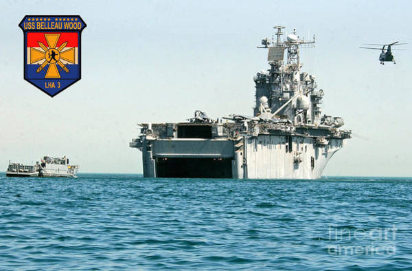 Iraqi Photograph - Uss Belleau Wood Lha 3 by Baltzgar