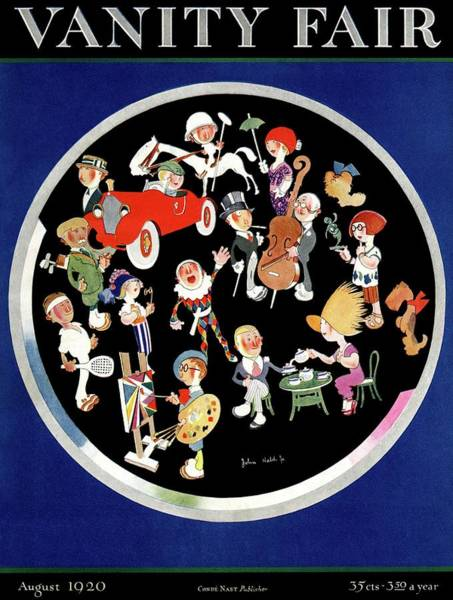 Polo Photograph - Vanity Fair Cover Featuring Caricatures Doing by John Held Jr