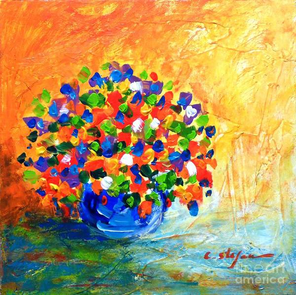 Painting - Vase With Flowers by Cristina Stefan