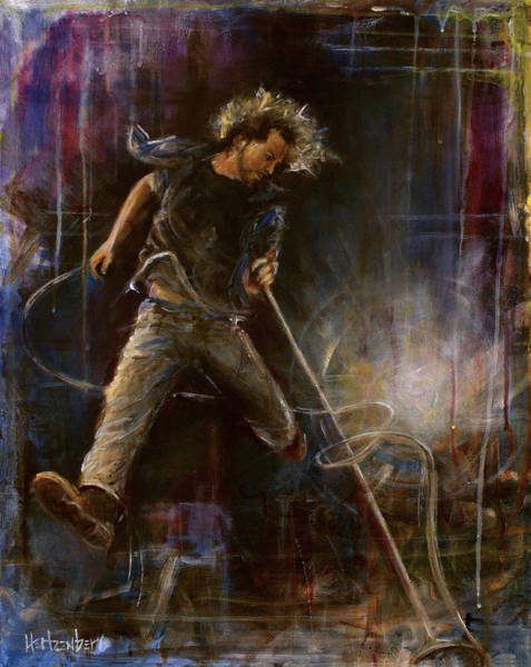 Pearl Jam Painting - Vedder by Josh Hertzenberg