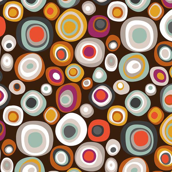Wall Art - Drawing - Veneto Boho Spot Chocolate by MGL Meiklejohn Graphics Licensing