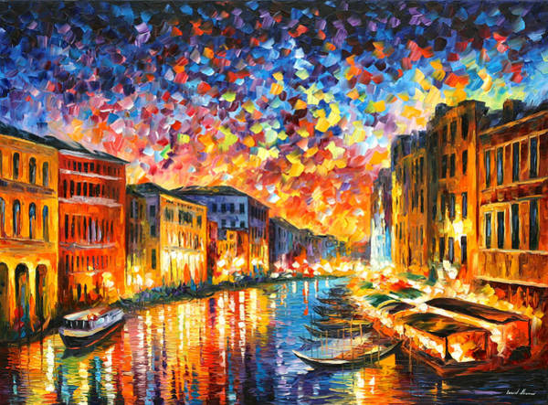 Wall Art - Painting - Venice Grand Canal by Leonid Afremov