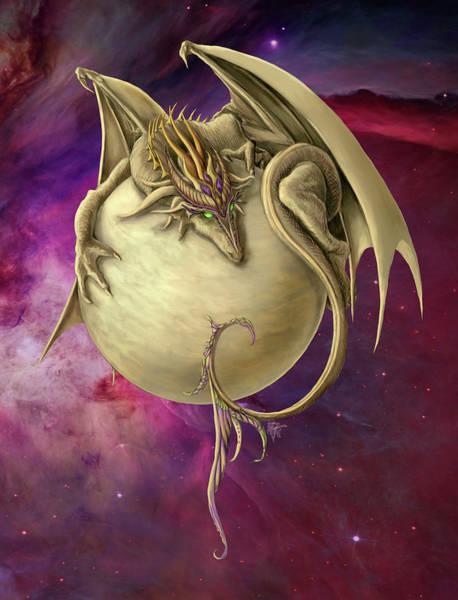 Wall Art - Painting - Venus Dragon by MGL Meiklejohn Graphics Licensing